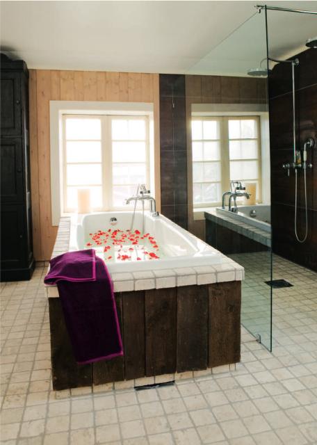 Badekar og tre