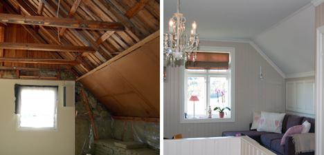 Tilfeldig før/etter interiør