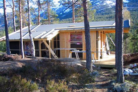 Her bygges det hytte
