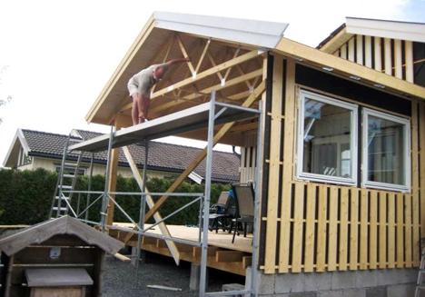 Terrasse overbygg tegning