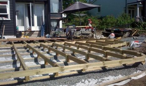 Bygge terrasse på lecablokker