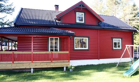 Vestlandsrødt hus