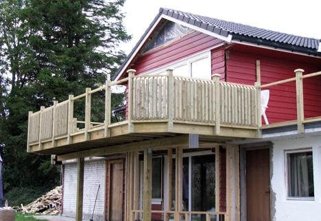 Bygge rekkverk veranda
