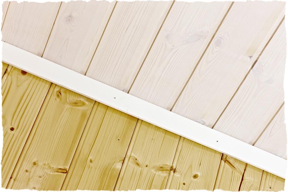 Bergene Holm blogg » Lasert tak og ubehandlet vegg, med malt list