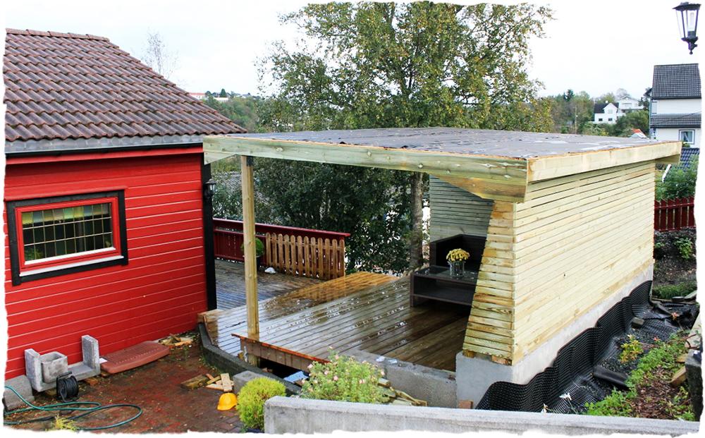 s hvordan lage tak pa paviljong