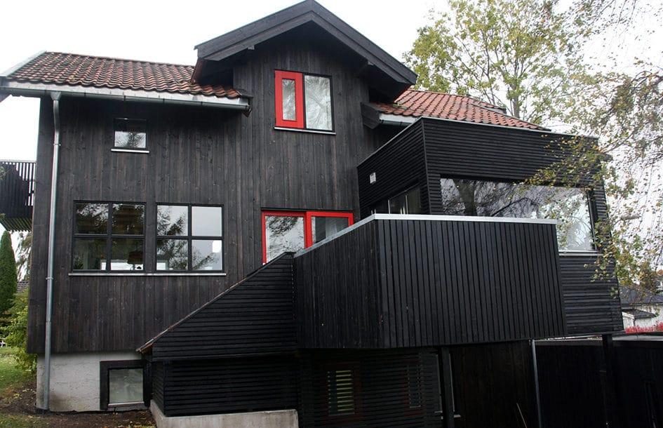 Hus og veranda