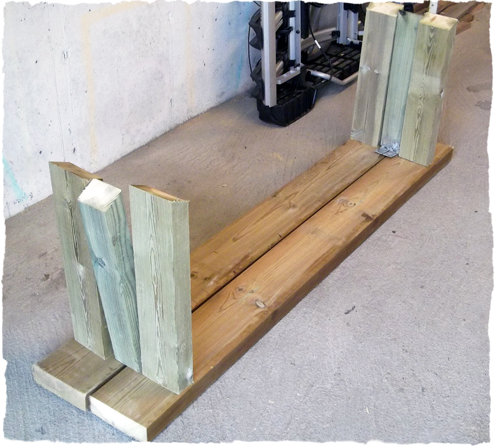 hvordan lage benk av tømmer