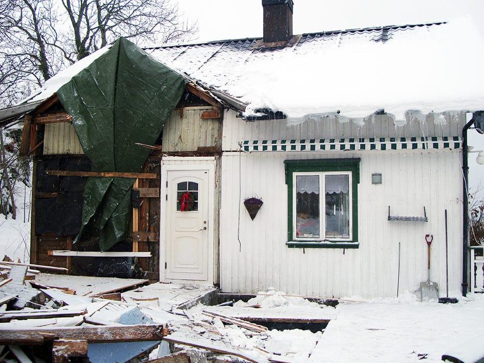 River deler av det gamle huset