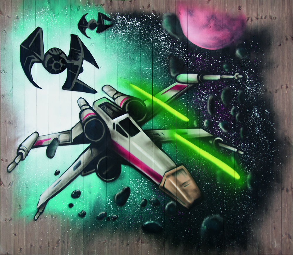 Stjernekrig på Bukkebrun panel