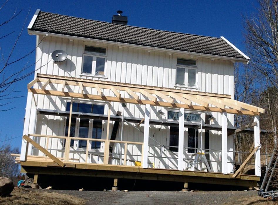 Bygger veranda