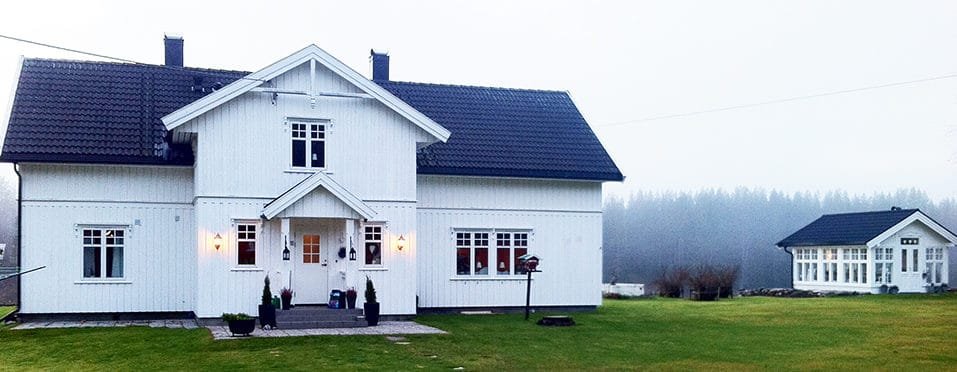 Hus og orangeri