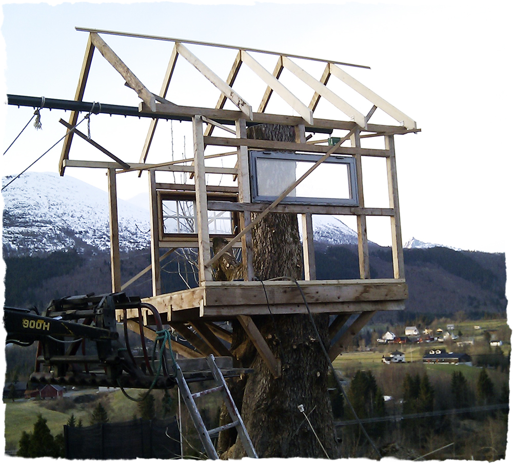 Bygge hytte i treet