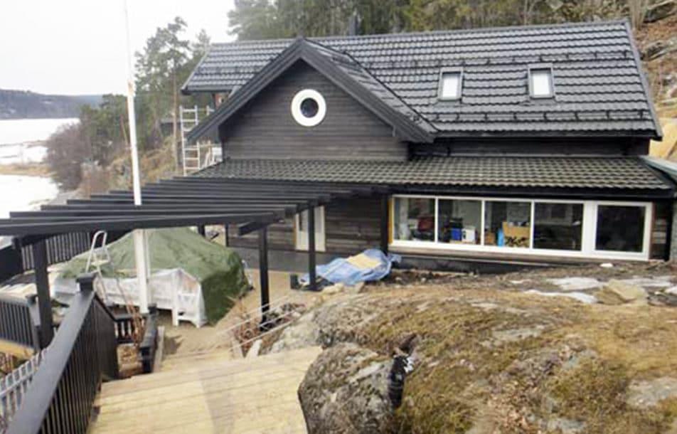 Ombygd hytte