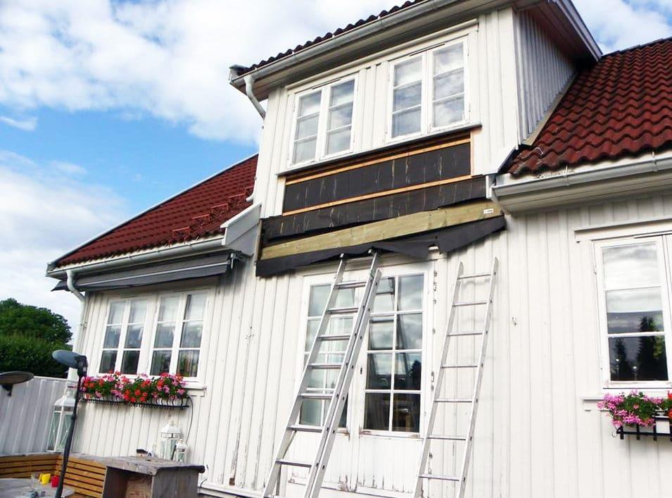 Bygger balkong