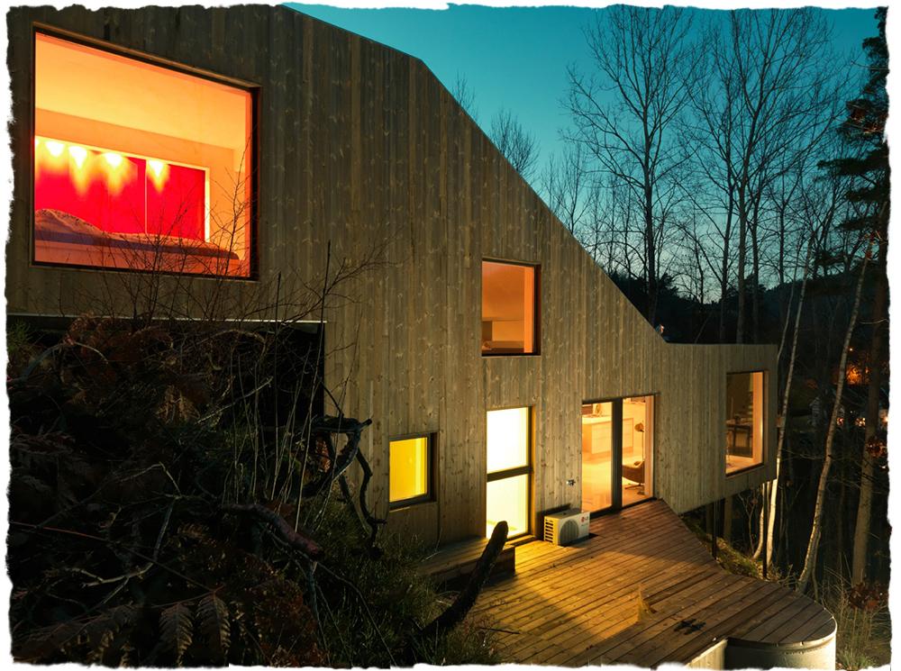 Bergene holm blogg » designet og bygget drømmeboligen alene
