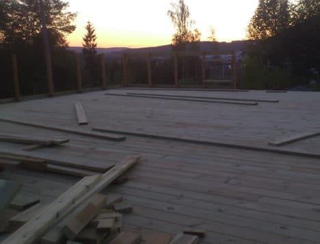 Solnedgang på terrassen