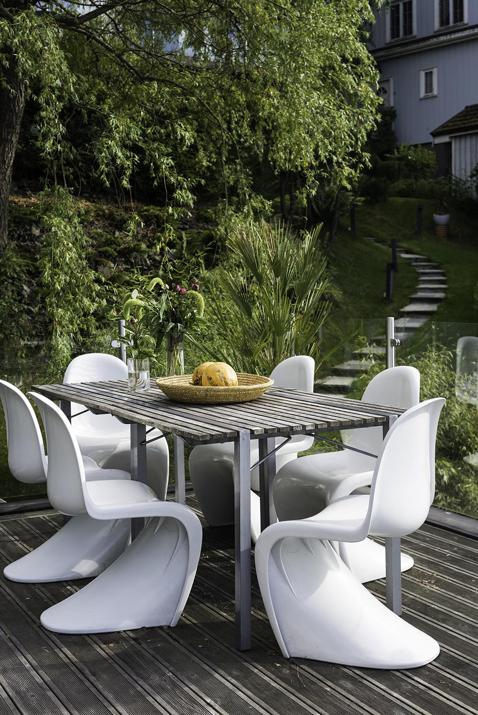 Svømmebasseng på Høyenhall, hos Hanne Holsted. Styling: Tone Kroken.