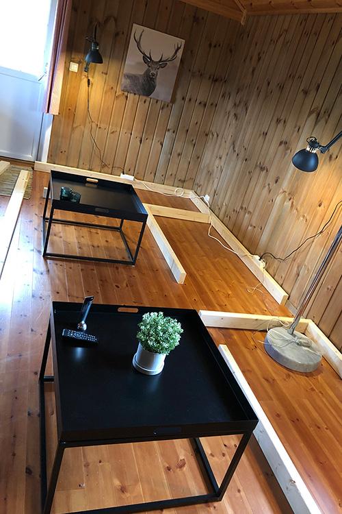Bilde av rammeverk til plassbygd sofa. Åpen klasse 2020 finalist 1