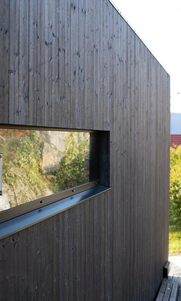 Detaljbilde av NORD Kledning - baksiden av huset - eksteriørprisvinner 2020 - Villa Betzybo