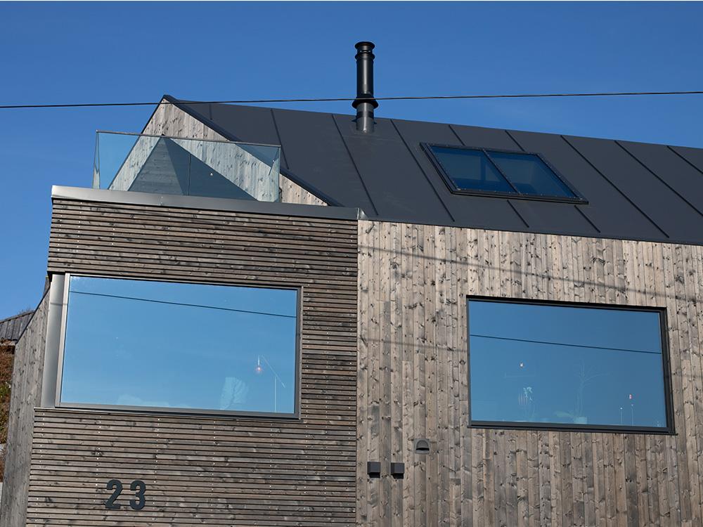 Bilde av forside av hus - Eksteriørprisvinner 2020 - Villa Betzybo