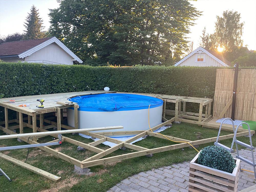 Bilde av påbegynt badebasseng. Finalist nummer 10. Uteromsprisen 2021.