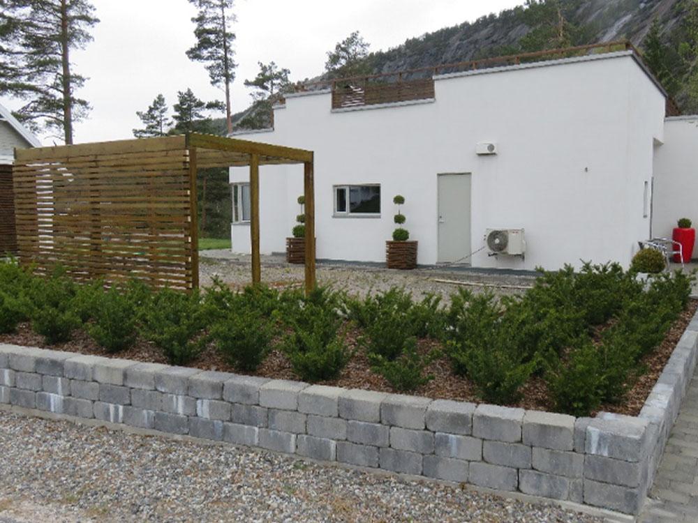 Bilde av byggeprosjekt før terrassen er lagt. Uteromsprisen 2021. Finalist nummer 6