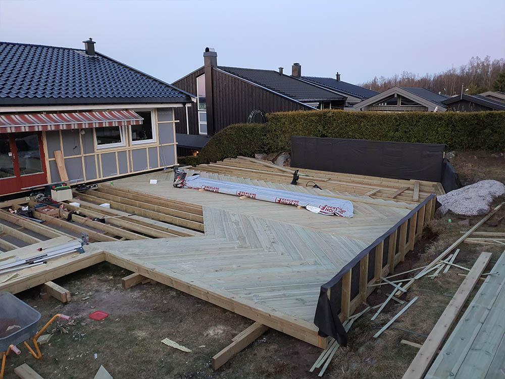 Bilde av påbegynt terrasse - uteromsprisen 2021