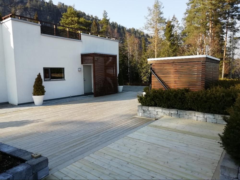 Bilde av terrasse hos finalist nummer 6 av uteromsprisen 2021.