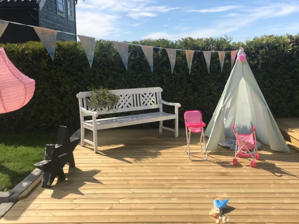 Bilde av terrassen til finalist nummer 12. Uteromsprisen 2021.