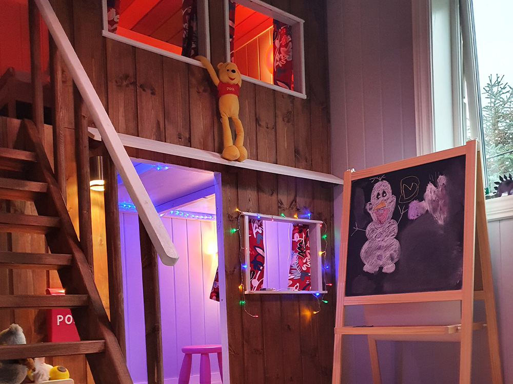 Bilde av finalist i kategorien kreative barnerom - Barnas Trepris 2021. Bilde av kreativ køyeseng