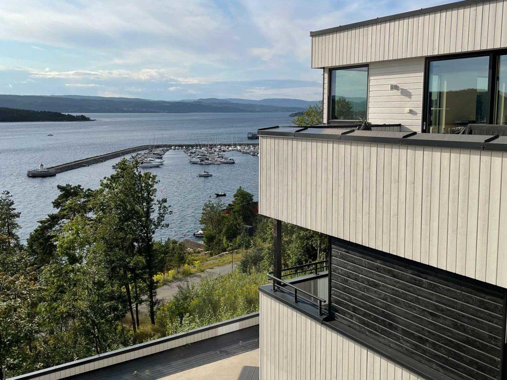 Utsiktsbilde av bolig til finalist nummer 7 - eksteriørprisen 2021.