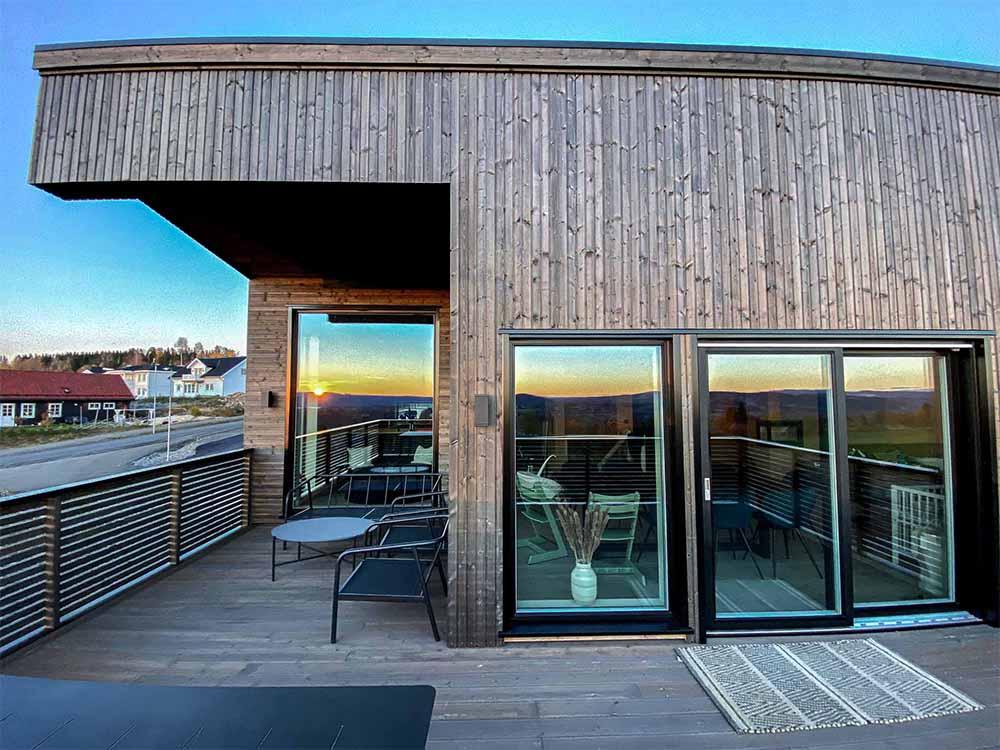 Terrasse på funkishus med Nordkledning, Eksteriørprisen 2021